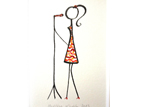 singing lady, special wish - the one and other 24 x 18 cm (c) Christina Knobbe